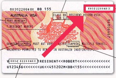 Comment trouver le numéro de vignette visa